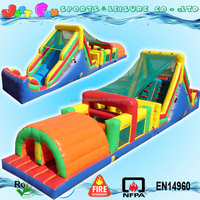 outdoor playground amusement park kids inflatable slide obstacle game