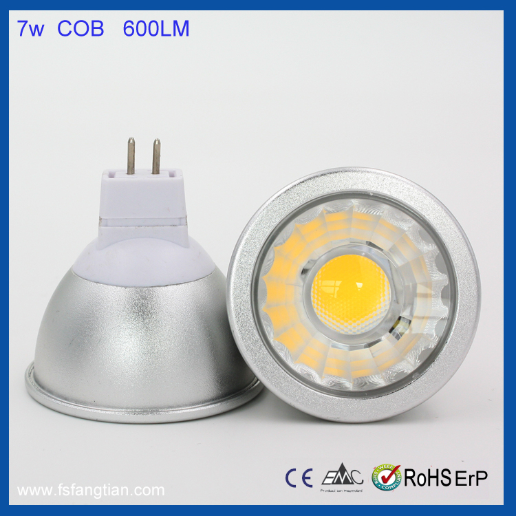 Alibaba website MR16 GU5.3 Led spotlight dimmable COB 7W led spotlight,CE RoHS approved