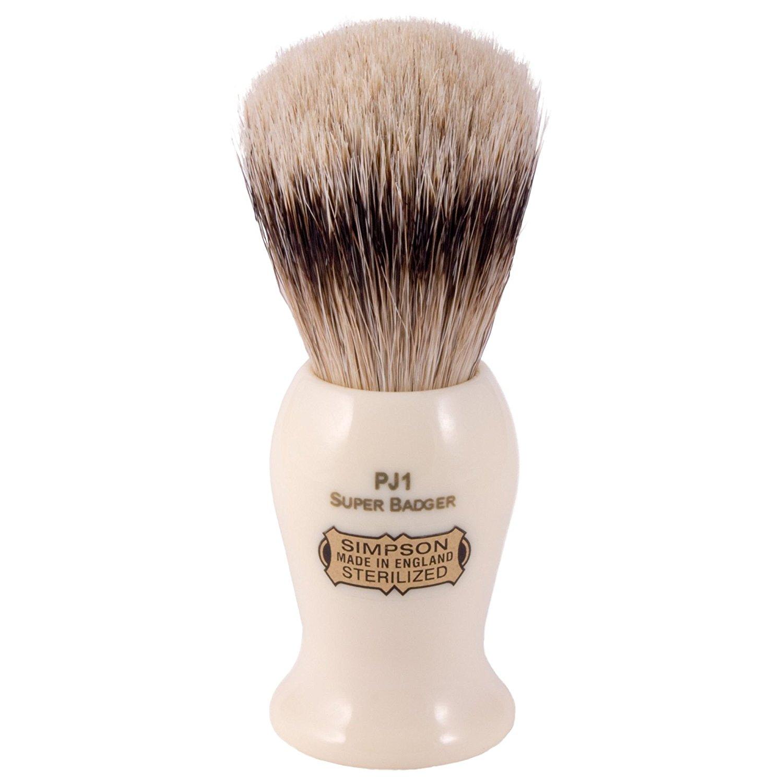 Simpsons Persian Jar PJ1 Super Badger Hair Shaving Brush Small - Imitation Ivory