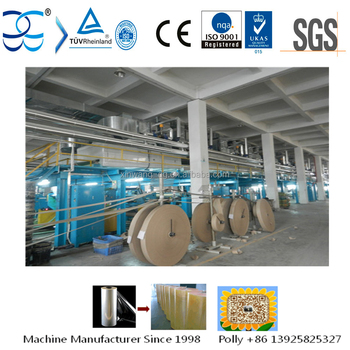 Non stop 350M MIN Automatic BOPP Tape Coating Machine
