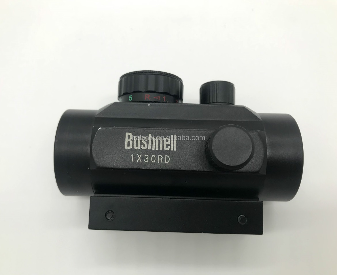 Portata del fucile 1x30mm Red Dot Sight con 20mm/11mm Weaver Picatinny Mount Rails, cinque Impostazioni di Luminosità Reflex Sight per la Caccia