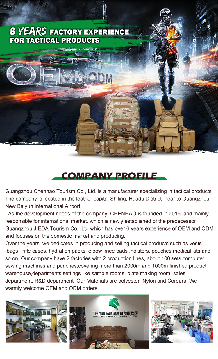 Hot sale military molle water holder pouch tactical  Hydration water bottle carrier sling cross body bag