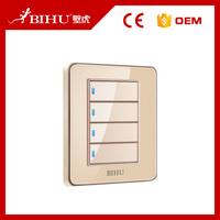 Bihu 4 gang 1 way simple easy fix cool light switch plates wall switch