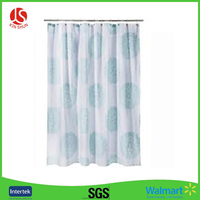 Big TeaL Circle Printed Shower Curtain PEVA Shower Curtain