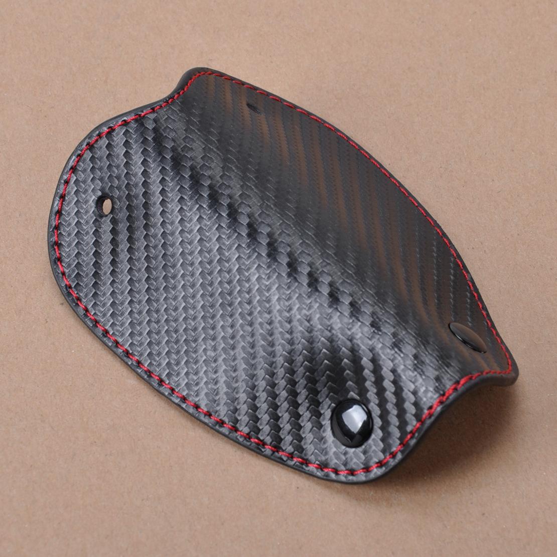 1pc חדש 3D עור סיבי פחמן המרוחק מפתח מקרה שרשרת keyless Fob מחזיק כיסוי עבור אאודי ב. מ. וו פולקסווגן הונדה טויוטה לקסוס מאזדה