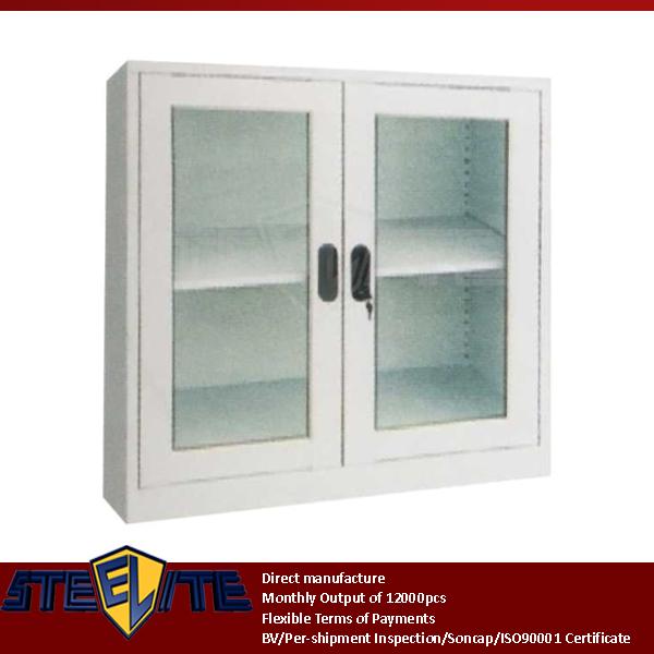 Diy Low Price Mini Two Gl Doors Display Metal Cabinet Design