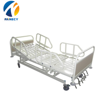 AC-MB002 china supplier Cheap psychiatric rolling hospital 4 section manual hospital bed appliances