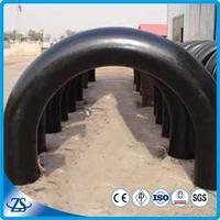ASTM A234 WPB, WPC carbon seamless steel bend pipe boiler fittings
