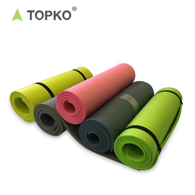 TOPKO 1/2-Inch Extra Thick High Density NBR Exercise Yoga Mat