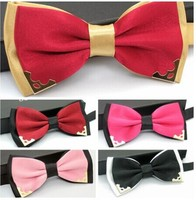 Mens high quality decoration custom men bowtie with suspender