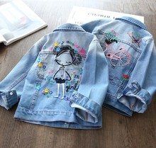 3-10 years children girl jeans jacket outwear clothes