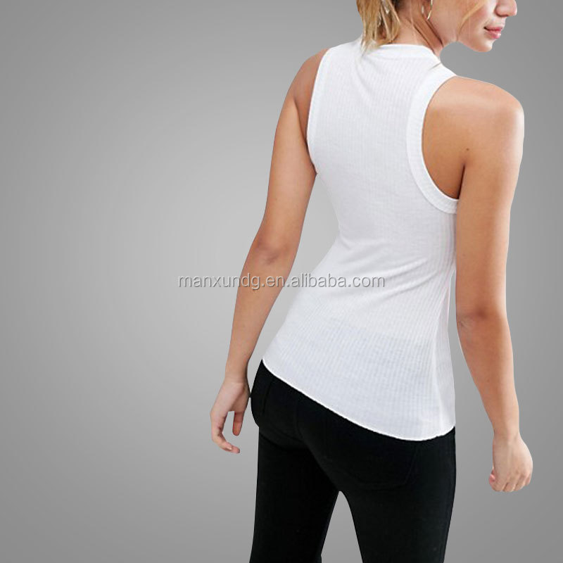 285121a3c4485 Youth Girl Vintage High Neck Tank Top Girls Casual Clothing Ladies White  Design Vest Slim Tight