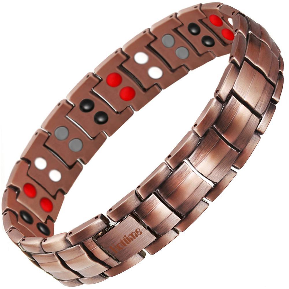 Double Row 4 IN 1 Bio Elements Energy 99.95% Pure Copper Magnetic Bracelets фото