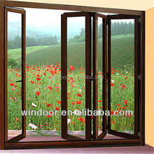 Exterior big tempered glass Aluminum door, Windoor brand high quality Aluminum door