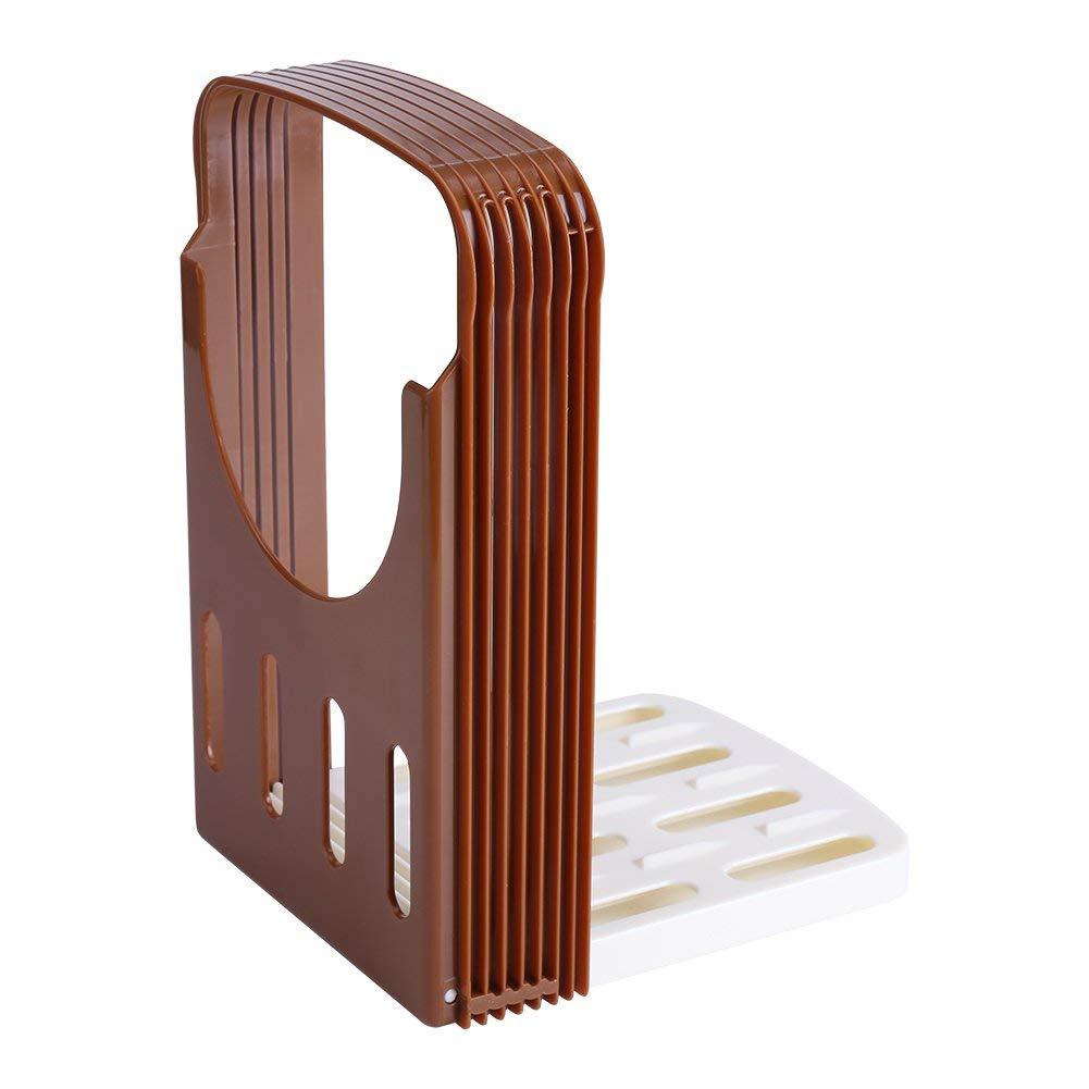 Adjustable Bread Slicer, Bread/Roast/loaf Slicer Cutter Mold, Compact Foldable Loaf Sandwich Toast Bread Slicer