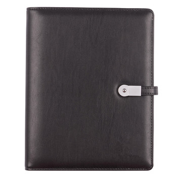 Professional Leather Cover Notebook A5 Size Notebook and usb set