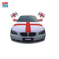 Cheap Custom spandex flag car engine hood cover flag for world cup