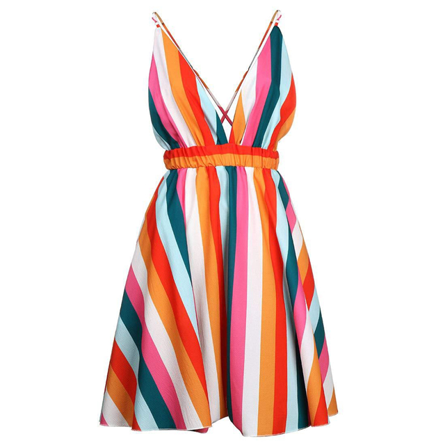 Hot Sale <strong>Western</strong> Fashion Clothing Sexy Striped Backless <strong>Dresses</strong> <strong>Women</strong> Lady
