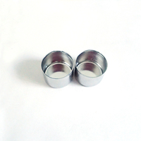 Small metal silver color candle cup holder