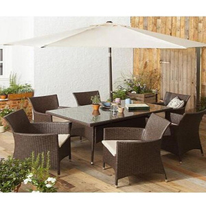 High Quality Waterproof UV Marble Slate Outdoor Furniture Garden Dining Table Set