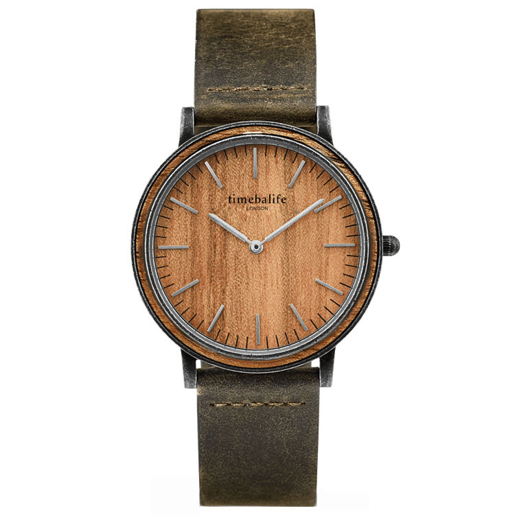 2018 Wood Dial Japan Movt Quartz Mens Wrist Watch
