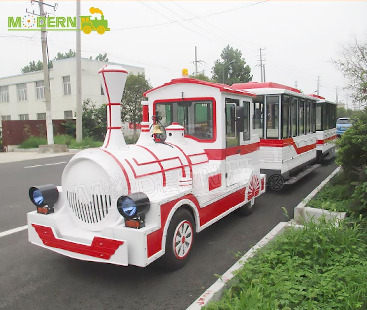 Happy carnival kids tourist trackless train ride for sale