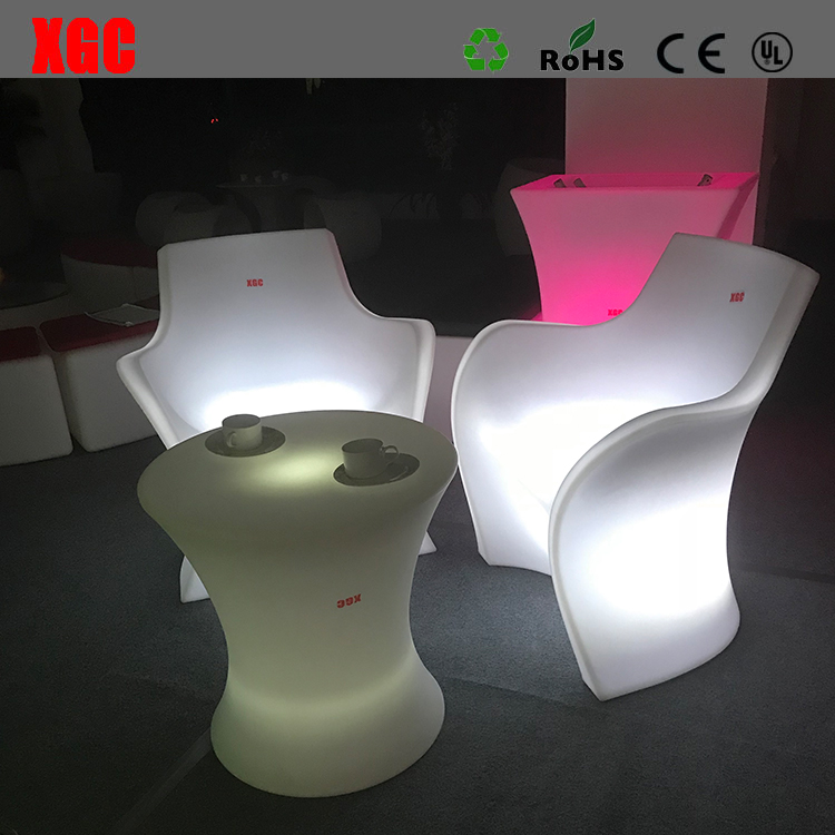 LED plastic Outdoor Furniture Chair Glowing Public Place Christmas Decorations