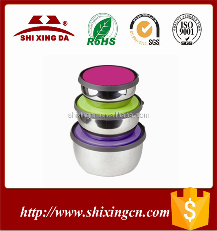 3pcs Stainless Steel Mixing Food Bowl Set