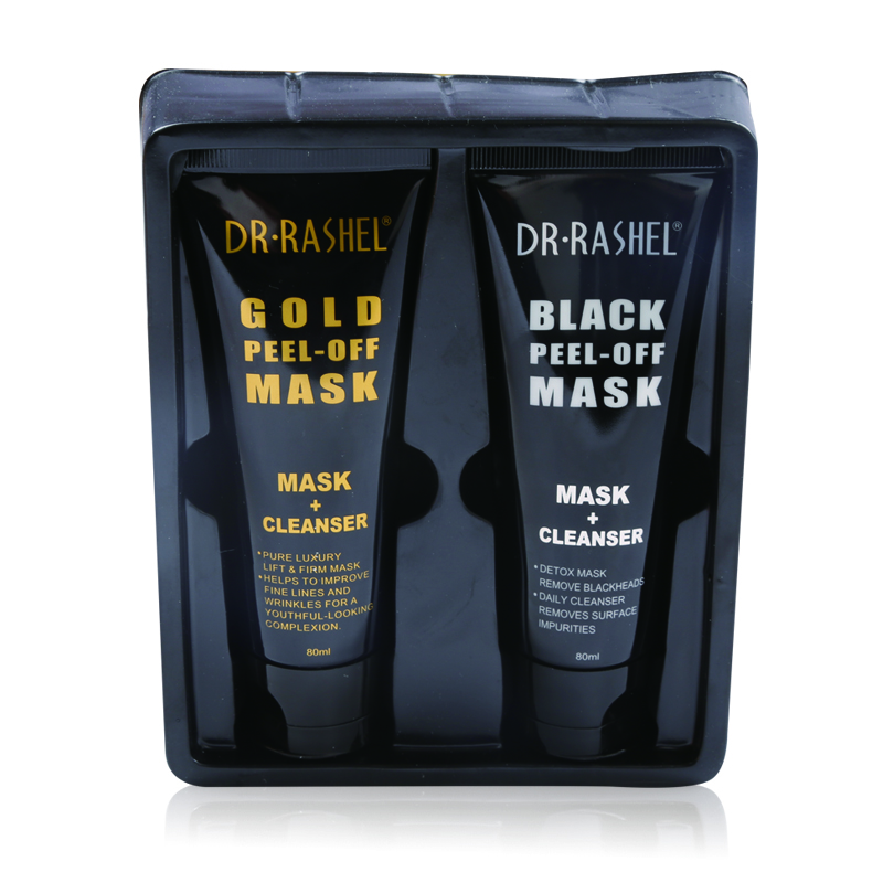 DR.RASHEL Gold & Black Peel Off Mask Daily Cleanser Blackhead Remover Anti Wrinkle Facial Mask