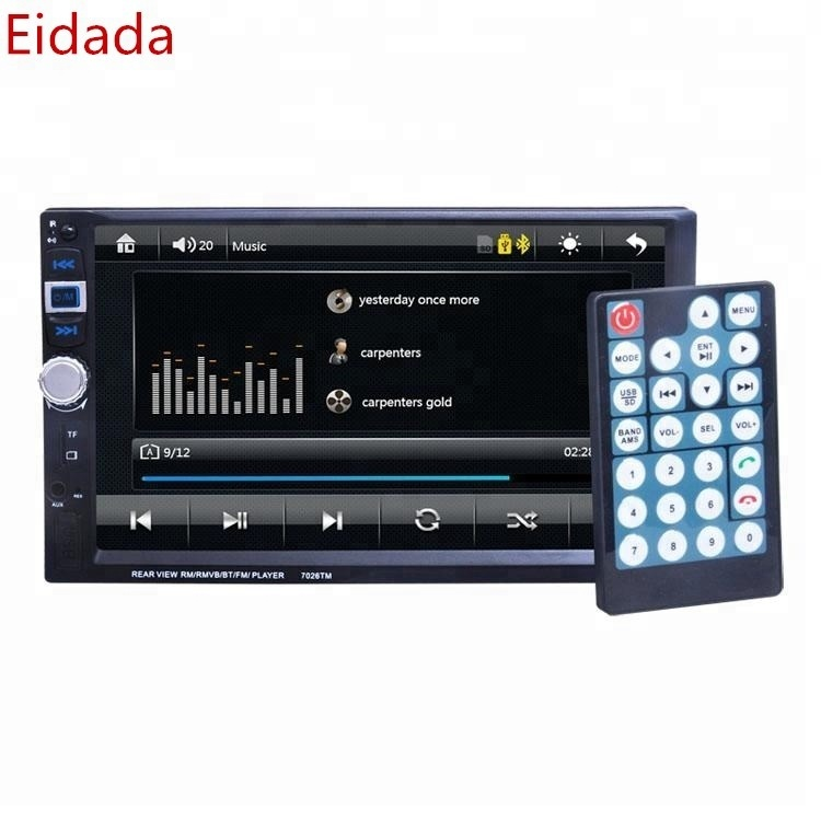 Eidada-7026TM 12 <strong>V</strong> Car 2 Din Touch Screen HD Car Video with Aux Bluetooth