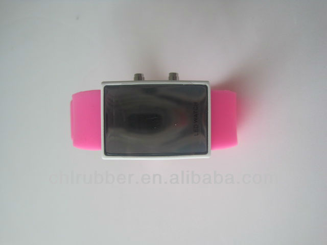 led sport silicone watches in mirror face