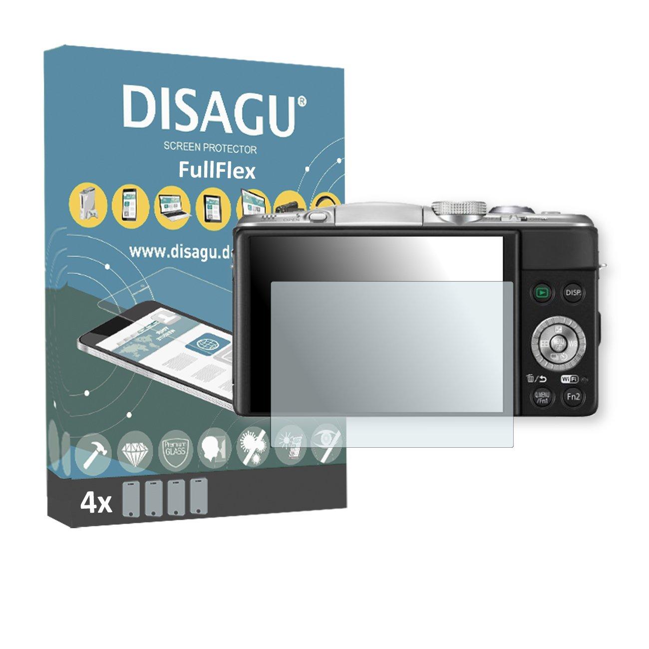 4 x Disagu FullFlex screen protector for Panasonic Lumix DMC-GF6X foil screen protector