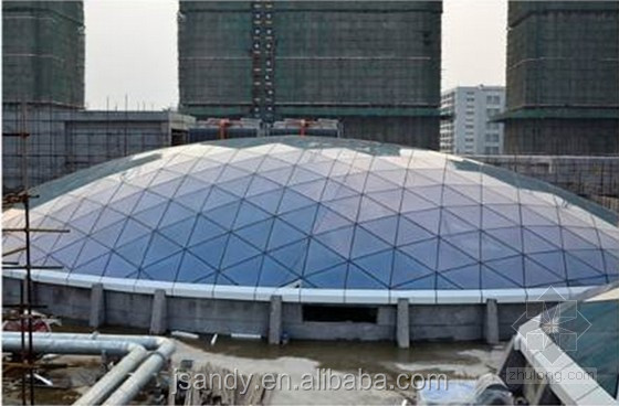 Glass and Aluminium Plastic Plate Curtain Wall Dome Skylight