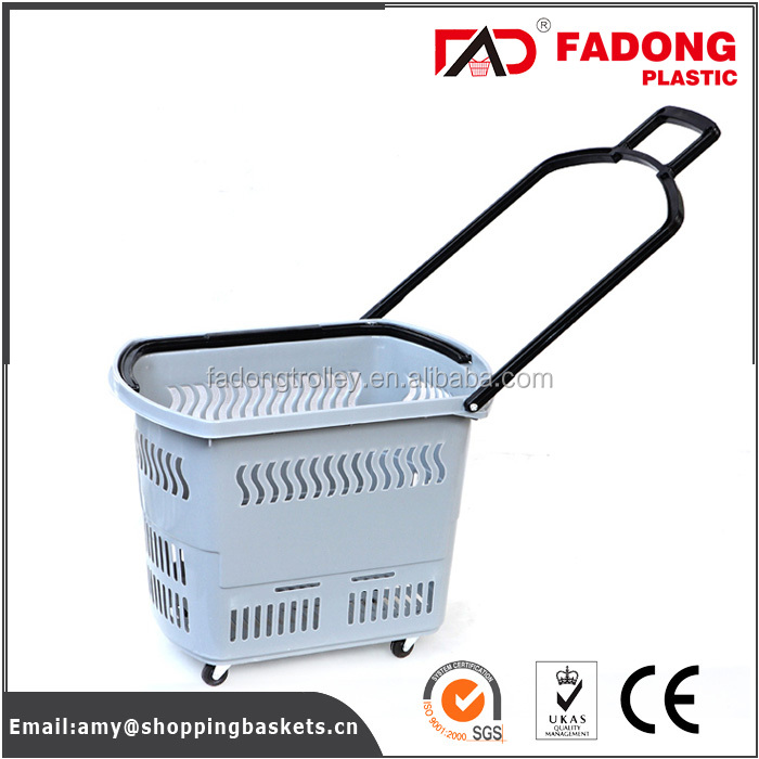 light plastic wire storage basket with wheels