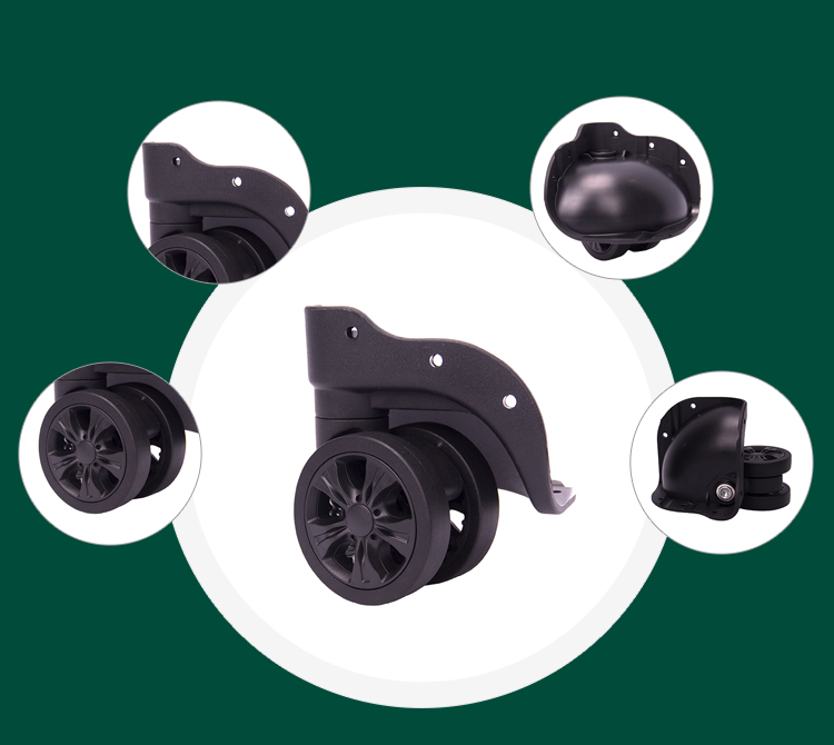 Parts of small trolley wheels