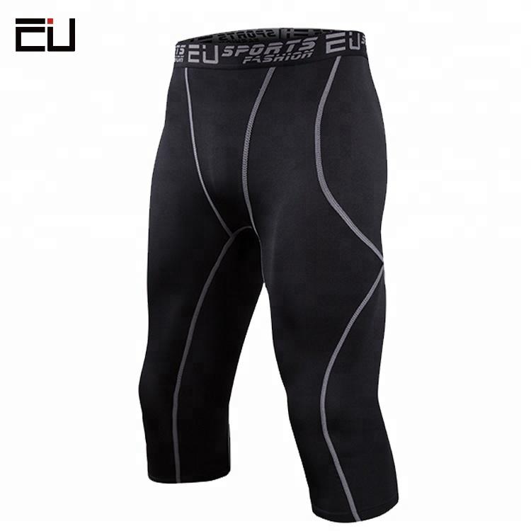 7dea5ac7f8 Custom 3 4 Compression Running Tights Design Compression Capri Pants for Men