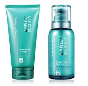 KOREAN COSMETICS, AmorePacific_ Laneige Homme, PORE CLEARING 2-piece set (CLEANSER150ml + GEL (Lotion) 125mll) (sebum control, skin trimmed, Trouble)[001KR]
