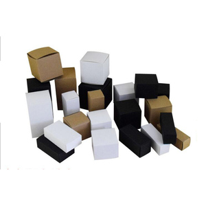 Rcycled Food Grade Cardboard White/Black/Kraft Paper Foldable Perfume Packaging 15ml bottle Paper Box Small With Custom Printing