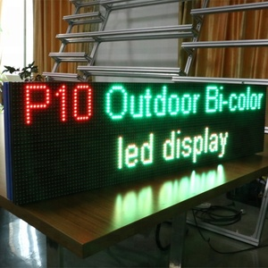 Free Style Single/Bi-Color P10 Running Message Text Led Module Display Board