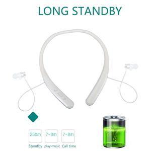 JUNEROSE JR-G6 Sports Magnetic Hanging Neck Type Wire Control Bluetooth Wireless Earphones