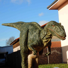 New green realistic raptor costume ,school kids play suit