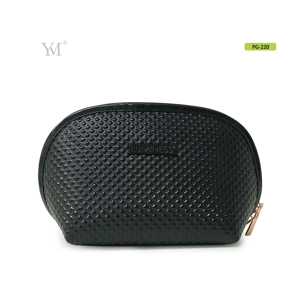 Very good quality promotional fashionable black hard make up bag for cosmetics