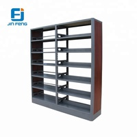 Combine wood and steel material library book shelf