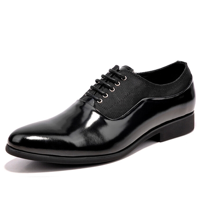 2015 New Fashion Designer Brand Italian Formal Oxford Genuine Leather Patent Mens Dress Skin Sneakers Shoes For Men MGS090