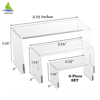 Transparent Acrylic Mirror Riser For Banquet Display