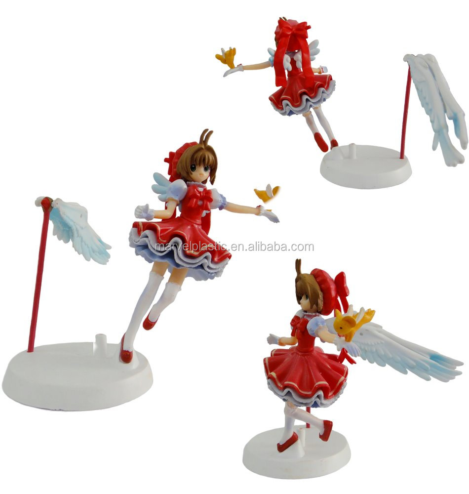 angel figure cartoon model toy pvc material
