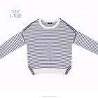 baby sweater /Girls' stripe pullover sweater with luxury deco in leisure style