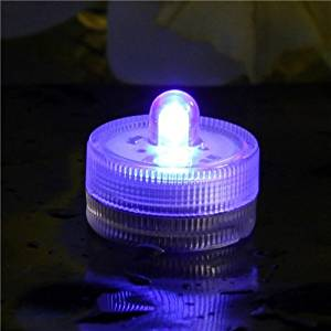 Eastchina® | Purple Color Submersible Led Tea Light | Waterproof LED Tea Light Candels | Underwater Led Candels | Battery Operated Submersible Led Tea Light| Pack of 12 Pcs | Great for Wedding Centerpiece, Christmas Holidays Party Celebration, Thanksgiving, Party Lights