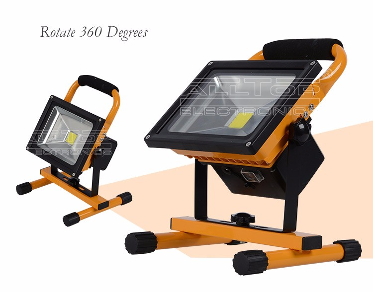 Waterproof outdoor ip65 portable rechargeable 20w solar led flood light