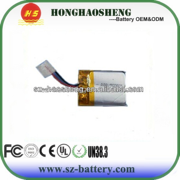 HHS high quality 3.7v battery 302025 lipo battery 3mm for musical electronic